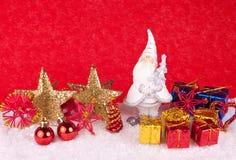 Decoración de Navidad - tarjeta de Navidad Fotografía de archivo