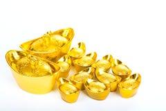 Decoración de oro china del dinero del Año Nuevo Imagenes de archivo