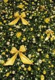 Decoración de oro de la Navidad Foto de archivo libre de regalías