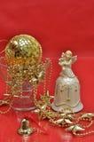 Decoración de oro de la Navidad Imagen de archivo