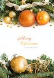 Decoración de oro de la Navidad Fotos de archivo