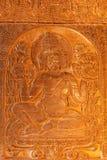 Decoración de oro del bhuddist, Bagan, Myanmar Imagen de archivo