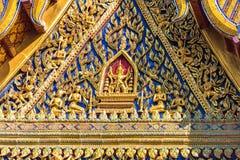 Decoración de oro y azul en estilo tailandés Fotos de archivo libres de regalías
