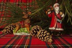 Decoración de Papá Noel foto de archivo