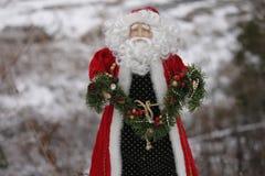 Decoración de Papá Noel Fotografía de archivo
