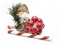 Decoración de Papá Noel de la Navidad sobre el fondo blanco Fotografía de archivo