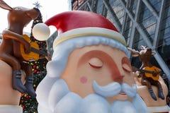 Decoración de Papá Noel en evento de la Navidad Foto de archivo