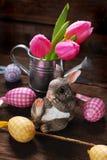 Decoración de Pascua con el conejo Fotos de archivo libres de regalías