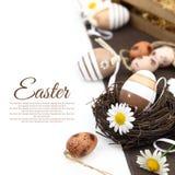 Decoración de Pascua con los huevos Imagenes de archivo