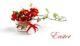 Decoración de Pascua en rojo Imagenes de archivo
