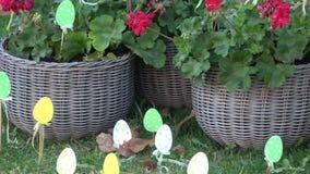 Decoración de Pascua para el jardín y el patio trasero Pascua feliz