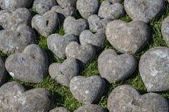 Decoración de piedra de los corazones Imagen de archivo