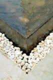 Decoración de piedra del agua Fotografía de archivo