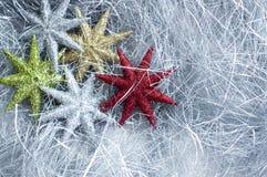 Decoración de plata de la Navidad Fotos de archivo