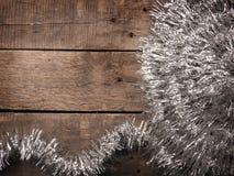 Decoración de plata de la Navidad Imagenes de archivo