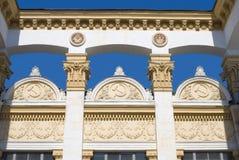 Decoración de un pabellón del Expocenter de Ucrania Fotos de archivo libres de regalías