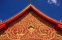 Decoración de un tejado, Wat Si Saket Fotos de archivo