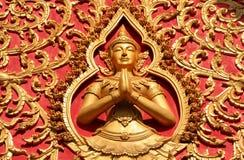 Decoración de un tejado, Wat Si Saket Imagenes de archivo