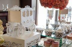 Decoración de una boda Imágenes de archivo libres de regalías
