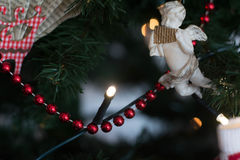 Decoración del ángel de la Navidad Imagenes de archivo