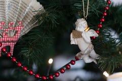 Decoración del ángel de la Navidad Fotos de archivo
