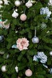 Decoración del árbol de Christmass Fotografía de archivo libre de regalías
