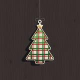 Decoración del árbol de navidad ilustración del vector