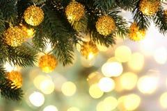 Decoración del árbol de navidad Foto de archivo libre de regalías