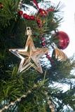 Decoración del árbol de navidad Foto de archivo