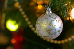Decoración del árbol de navidad Imágenes de archivo libres de regalías