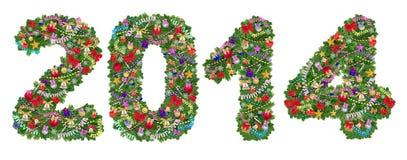 Decoración del árbol de navidad del número 2. Imágenes de archivo libres de regalías
