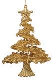 Decoración del árbol de navidad del oro Fotos de archivo libres de regalías