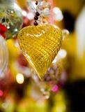 Decoración del árbol de navidad en forma del corazón fotos de archivo libres de regalías