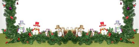 decoración del árbol de navidad y del muñeco de nieve Imagenes de archivo
