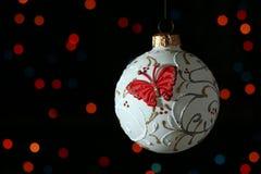 Decoración del árbol del Nuevo-año Fotografía de archivo libre de regalías