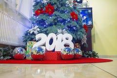 Decoración 2018 del Año Nuevo imagen de archivo