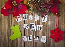 Decoración del Año Nuevo Fotografía de archivo libre de regalías