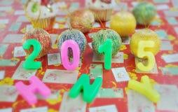 Decoración 2015 del Año Nuevo Imagenes de archivo