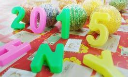 Decoración 2015 del Año Nuevo Fotografía de archivo