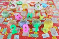 Decoración 2015 del Año Nuevo Fotos de archivo