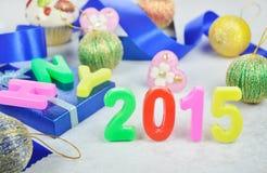 Decoración 2015 del Año Nuevo Imágenes de archivo libres de regalías
