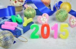 Decoración 2015 del Año Nuevo Imagen de archivo libre de regalías