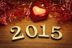 Decoración 2015 del Año Nuevo Fotos de archivo libres de regalías