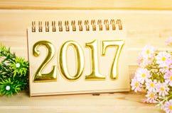 Decoración 2017 del Año Nuevo Imagen de archivo libre de regalías