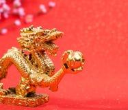 Decoración del Año Nuevo con el dragón Imagenes de archivo