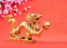Decoración del Año Nuevo con el dragón Imagen de archivo libre de regalías