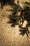 Decoración del Año Nuevo con el pino Foto de archivo libre de regalías