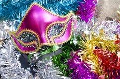 Decoración del Año Nuevo con la máscara de lujo Fotos de archivo
