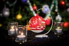 Decoración del Año Nuevo de la Navidad Imagenes de archivo