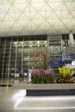 Decoración del Año Nuevo en el aeropuerto internacional de Hong-Kong Foto de archivo libre de regalías